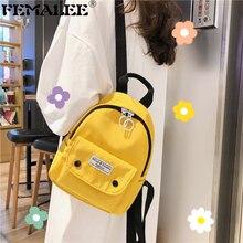 Girls school bags Canvas Multi-pockets backpack for teenagers Mini bagpack high