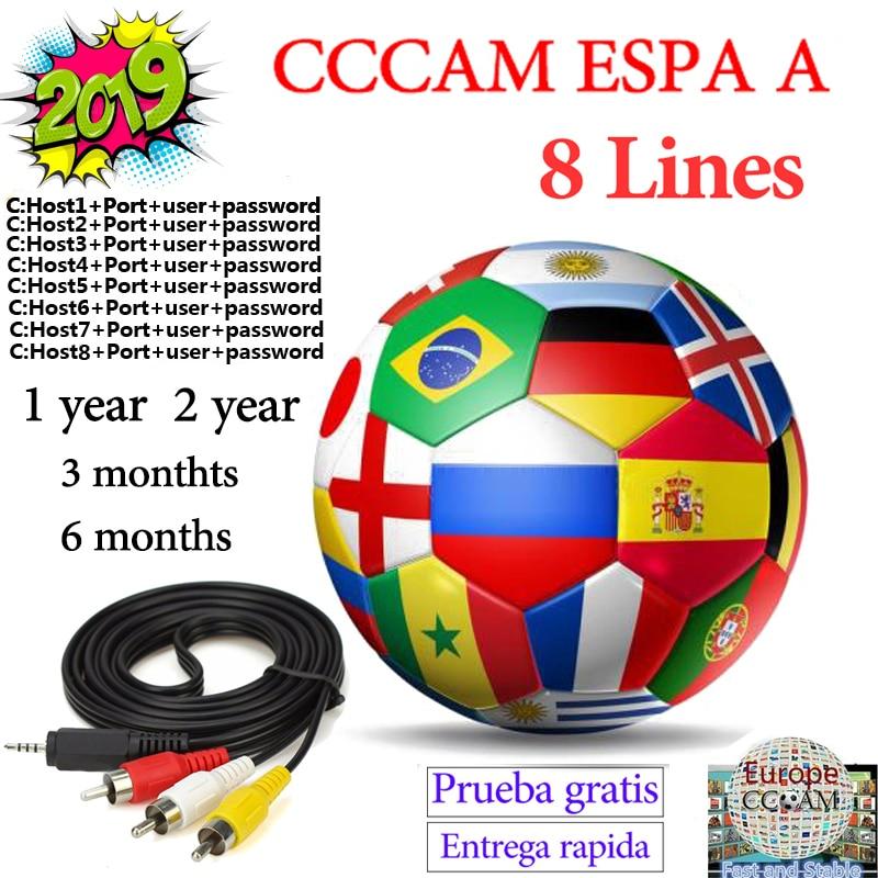 2019 CCcam Server Satble 8 Line Cccam Espa A Spain Europe Portugal Poland France Italia Ccam Server HD For Receptor Satelite