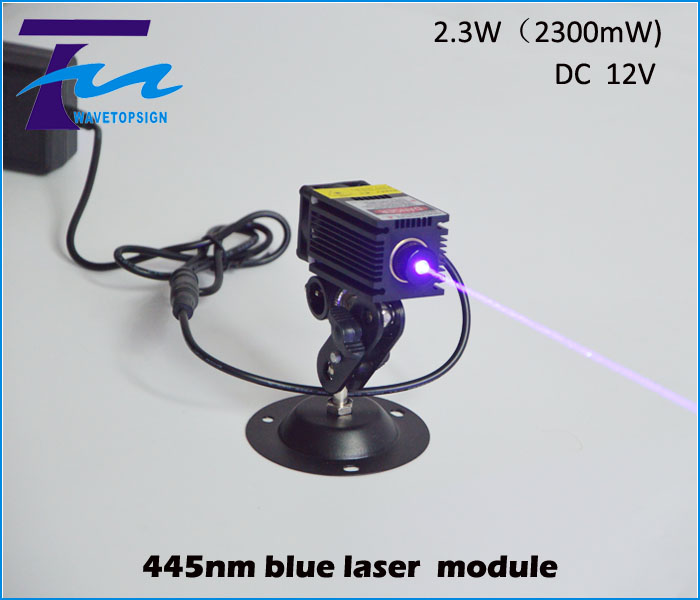 445nm blue laser module 2.3w 2300mw input dc 12v can work long time industrial use focus can been adjust With TTL / PWM control om zfv sc90 140605 industry industrial use automation plc module p v