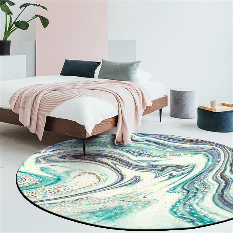 Fashion modern abstract Colorful starry sky Thick round printed carpet Hotel living room bedroom office cafe floor Non slip mat in Carpet from Home Garden