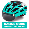 Victgoal capacete de bicicleta mountain bike, capacete de luz para ciclismo moldado integralmente à prova de vento com óculos de proteção 14