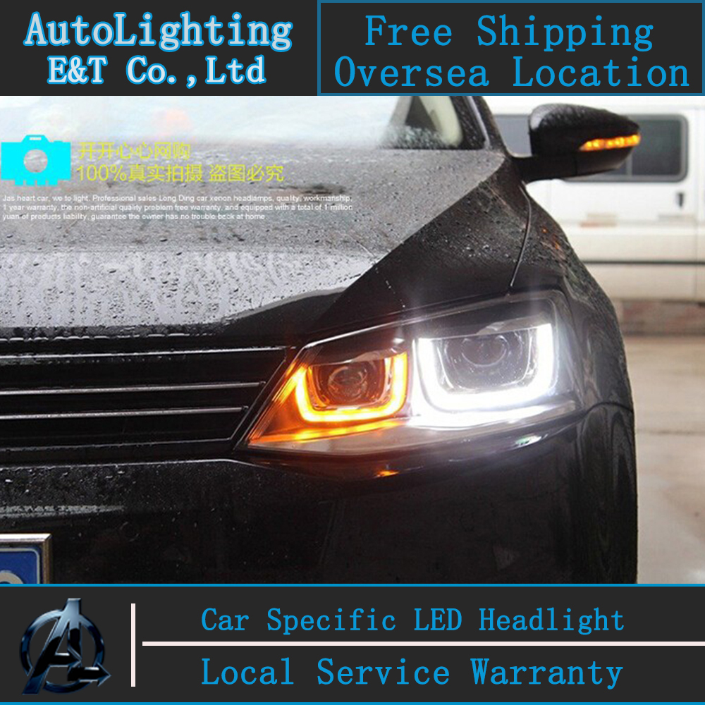 Car Styling Jetta Mk6 Headlight Embly 2017 Vw Led Angel Eye Gli Drl H7 With Hid Kit 2 Pcs In Light From