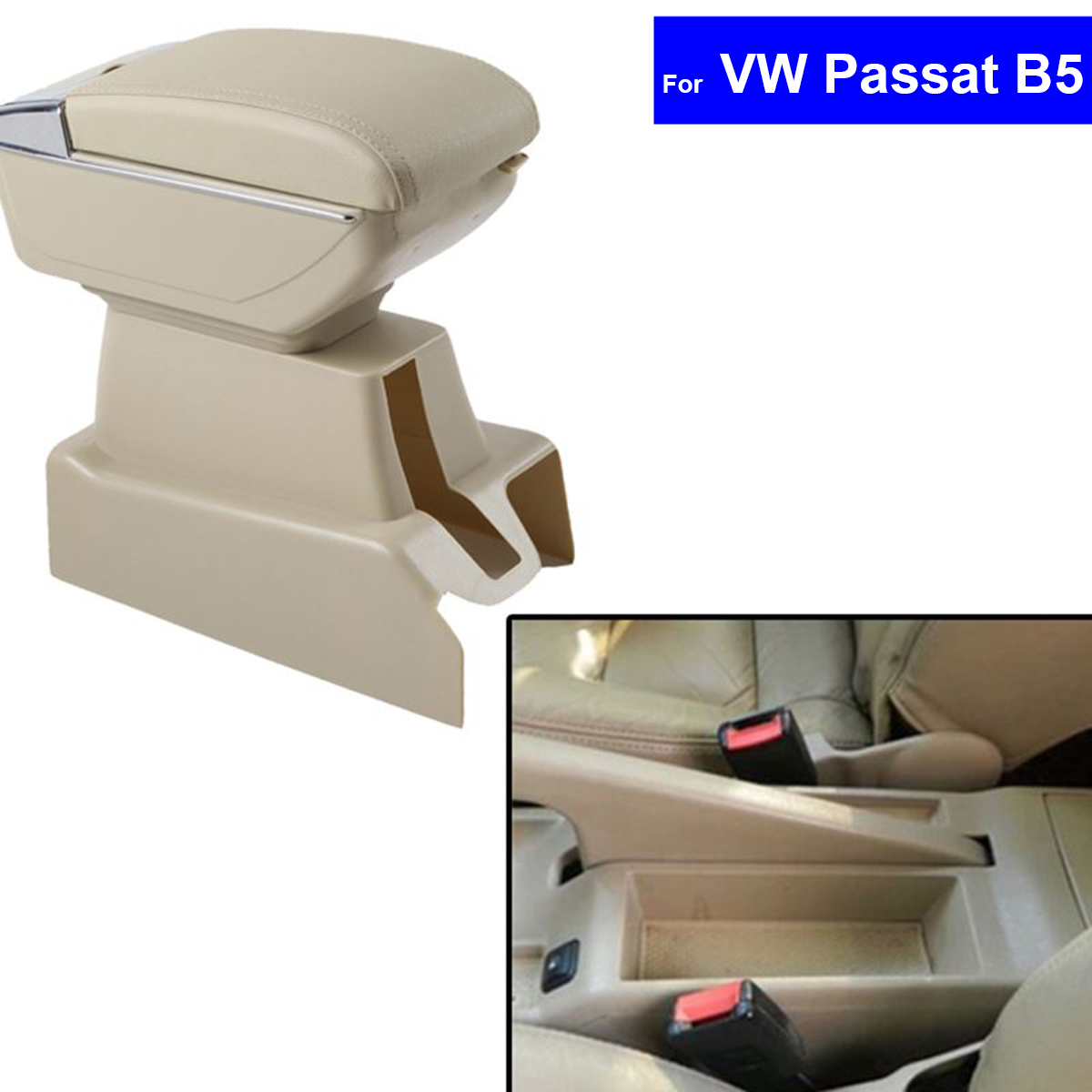 Leather Car Center Console Armrest Storage Box for Volkswagen VW Passat B5 2002 ~2005 2006 2007 2008 2009 Armrests Free Shipping