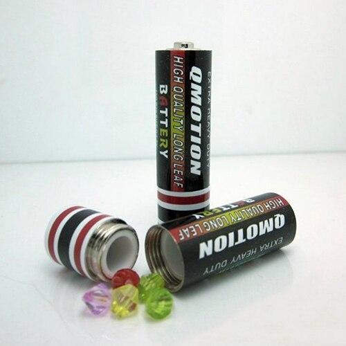 Hidden Container Case Secret Stash Diversion Safe AA Battery Storage Pill Box