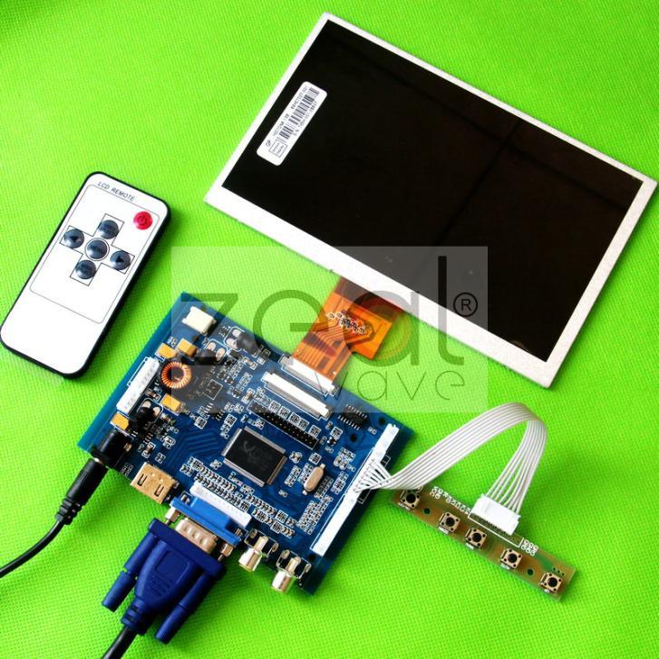 7 LCD 1024x600 Display HJ070NA-13A EJ070NA-01J 40PIN For Raspberry Pi ARM HDMI VGA AV Audio Driver Board
