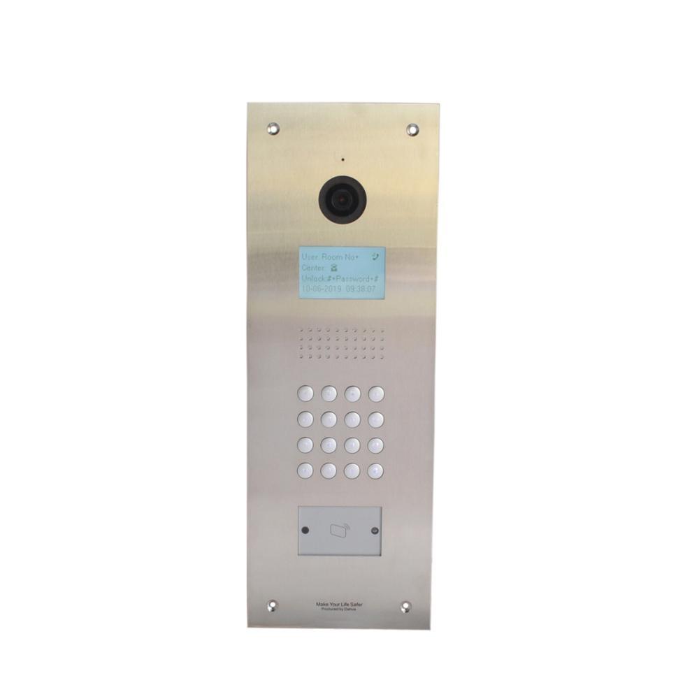 DH Logo Multi-language Apartment IP Video Intercom VTO1210C-X-S1, IP Doorbell,SIP Firmware,waterproof Include Mounted Box