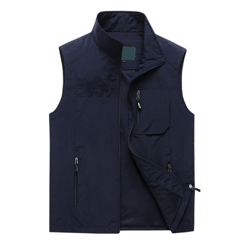 New Summer Mesh Thin Multi Pocket Vest For Male Big Size Male Casual Outdoor Sports Sleeveless Jacket Photographer Waistcoat