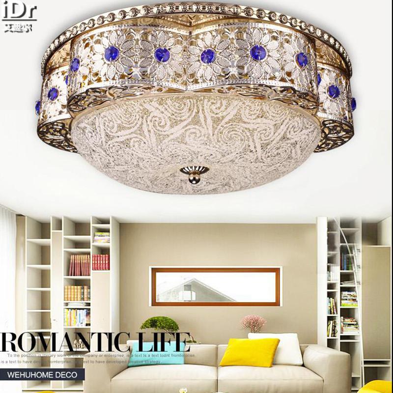 S Gold FHRTE Kristall Licht Rund Wohnzimmer Schlafzimmer Flur Kleines Im Europischen Stil Lampe Deckenleuchten
