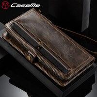 CaseMe Phone Cases For Apple IPhone 8 8 Plus Luxury Retro 2 IN 1 Leather Magnetic