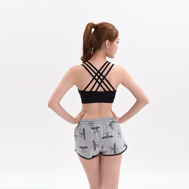 100PCS/LOT 2017 Fashion Women bandage cross Tank Tops Padded Bra Vest  Blouse Bustier Vest free size
