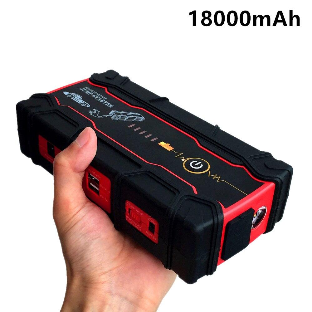 Super Power 18000 mAh Auto Starthilfe Energienbank Tragbare 800A Startvorrichtung Booster Emergency Auto Starter Batterien Für Autos
