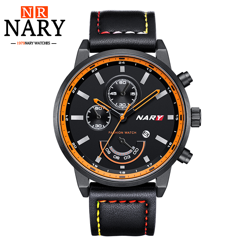 NARY Relogio Masculino Mens Watches Top Brand Luxury Leather Fashion Casual Sport Clock Quartz Watch Men Military Wristwatches relogio masculino doobo quartz watch men 2017 top brand luxury leather mens watches fashion casual sport clock men wristwatches