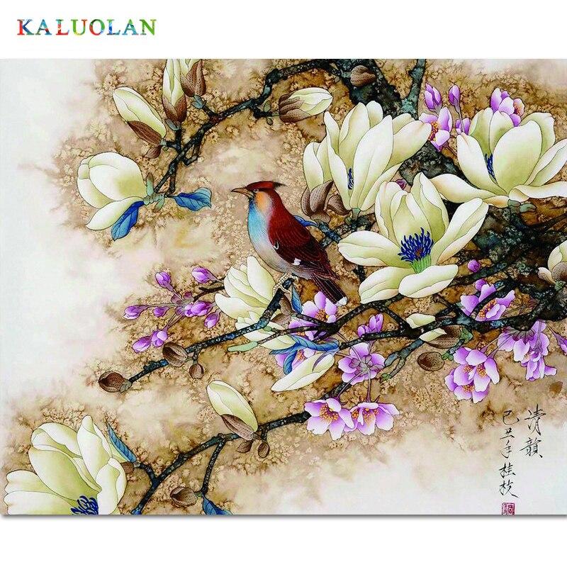 Frameless immagine della parete della pittura dai numeri di tela pittura home decor vernice per numero di Uccello quadri regalo unico vernice da numeri