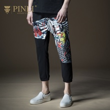 PINLI Cargo Pants Men Product Made Summer Cultivate Morality Bouquet Foot Male