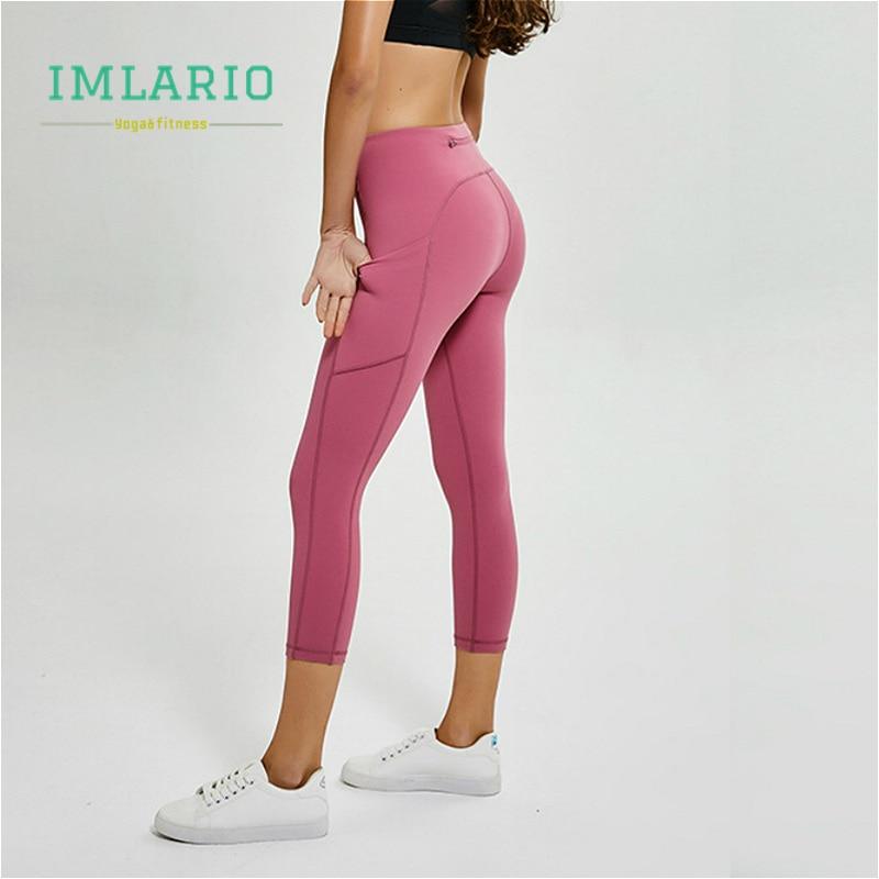 Women Capri Cropped Legging High Waist Yoga Pant for Gym Fitness Workout Running
