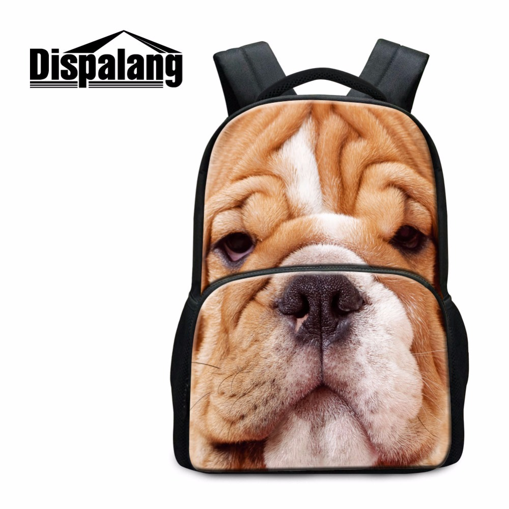 Animal middle school backpacks dog back pack Tiger backpacker magazine Cool dinosaur School Bag for Boys Teen Bookbags mochilas