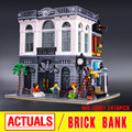 LEPIN 15001 City Street Creator Brick Bank Model Building  Assembling Blocks Bricks Toy Compatible With 10251