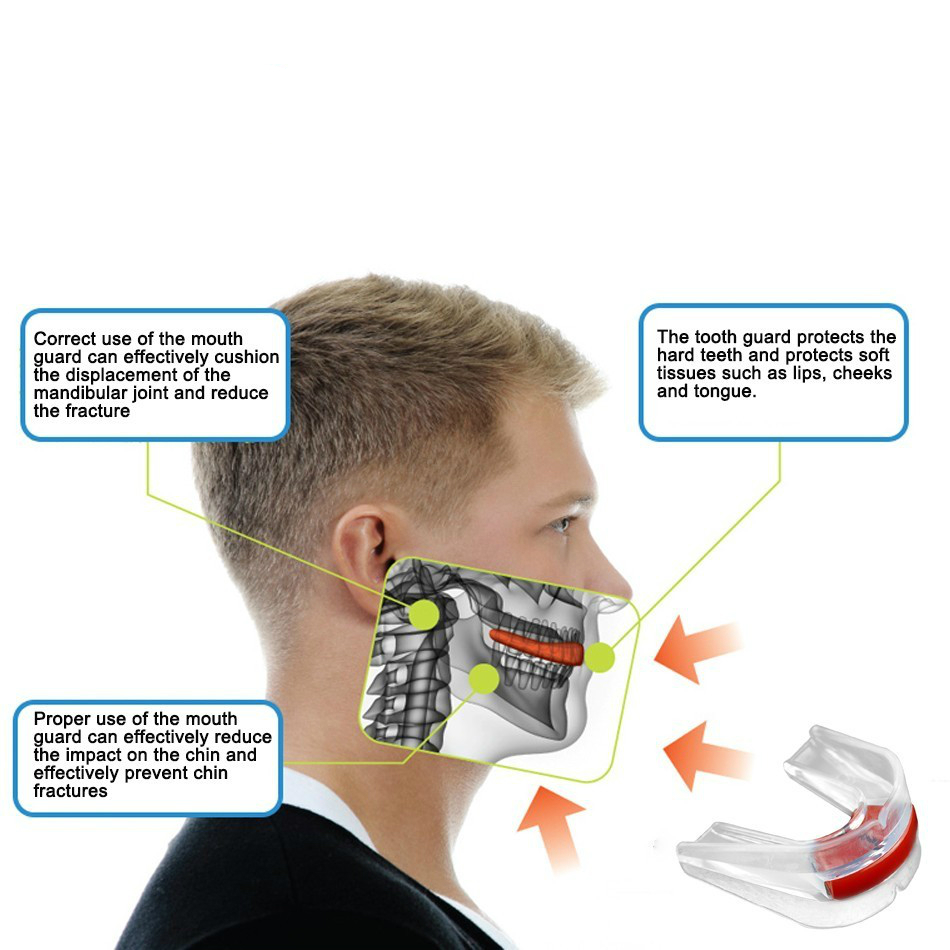 WorthWhile Sports Mouth Guard Made with EVA Material for Teeth Protection of Kids/Adults 4