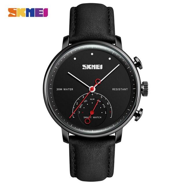 Skmei мода Смарт часы Для мужчин Элитный бренд Для женщин авто-время вызова сообщение напоминание Кварцевые наручные часы Шагомер Спортивные часы H8
