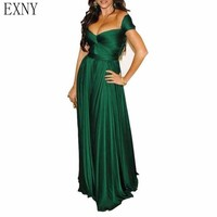 8351bc1f4 EXNY Emerald Green Evening Dresses 2019 A Line Sweetheart Off Shoulder  Elegant Chiffon Long Prom Party