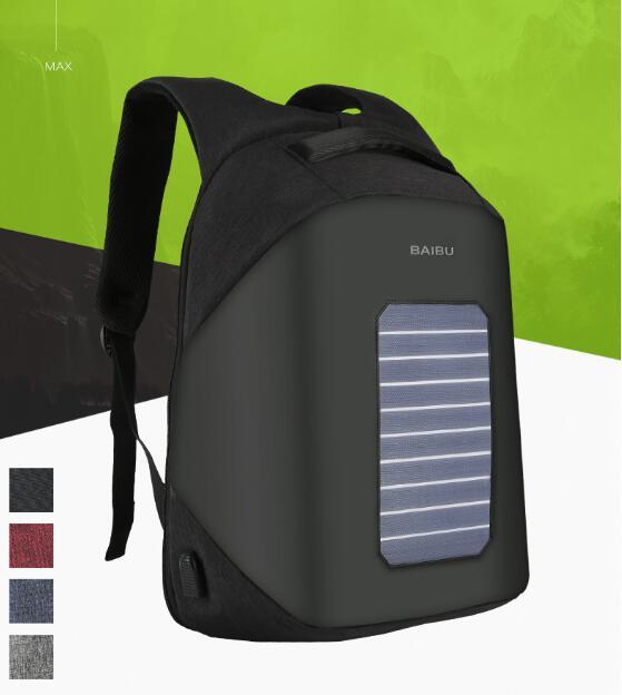 POESECHR 2018 солнечные панели перезаряжаемый Внешний USB зарядка Рюкзак для ноутбука Рюкзаки противоугонные сумки для мужчин и женщин