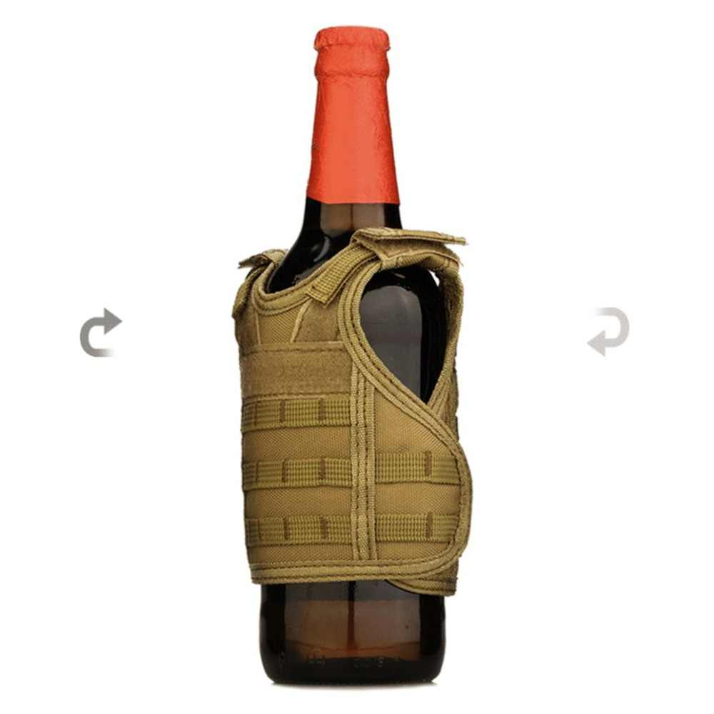 Тактический жилет слой военный чехол для пивной бутылки охладитель напитков Мини Молл жилет регулируемые плечевые ремни для бутылки может