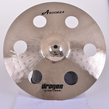 professional percussion manufacturer  DRAGON 14″  HOLE CYMBAL for sale