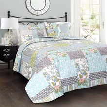 ФОТО 2018 luxury cotton stitching quilt summer thin comforter bed cover +2 pillowcase blanket coverlet coverlet patchwork bedspread