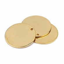 10pcs Stainless Steel Real Gold Plated Metal Bracelets Pendants Blank Stamping Tags For DIY Charms Jewelry Makings Wholesale