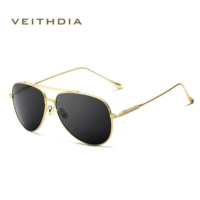 a2dbe3cf3a7f0 2018 Novos óculos de sol VEITHDIA Piloto Do Vintage Marca Designer Óculos  De Sol Dos Homens