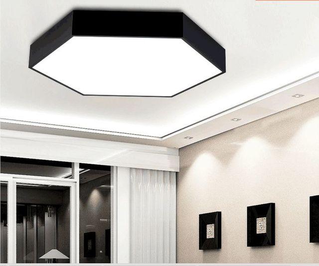 Plafoniera Led Modern Ceiling Light Plafon LED Dining Room Iluminacion  Interior LED Ceiling Light Plafoniera White