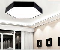 Plafoniera Led Modern Ceiling Light Plafon LED Dining Room Iluminacion Interior LED Ceiling Light Plafoniera White Black
