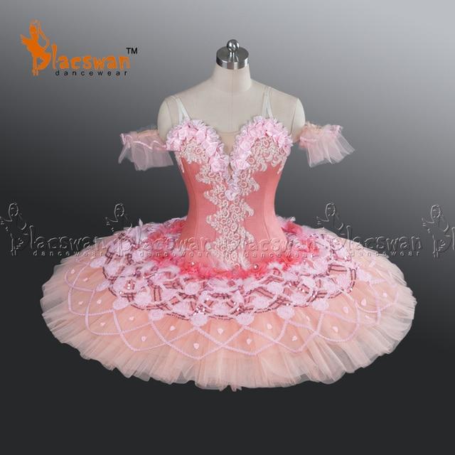 Princess Aurora Professional Ballet Tutu BT630 Peach Fairy Classical Tutu Ballet Costumes Sleeping Beauty Pink Pancake & Princess Aurora Professional Ballet Tutu BT630 Peach Fairy Classical ...