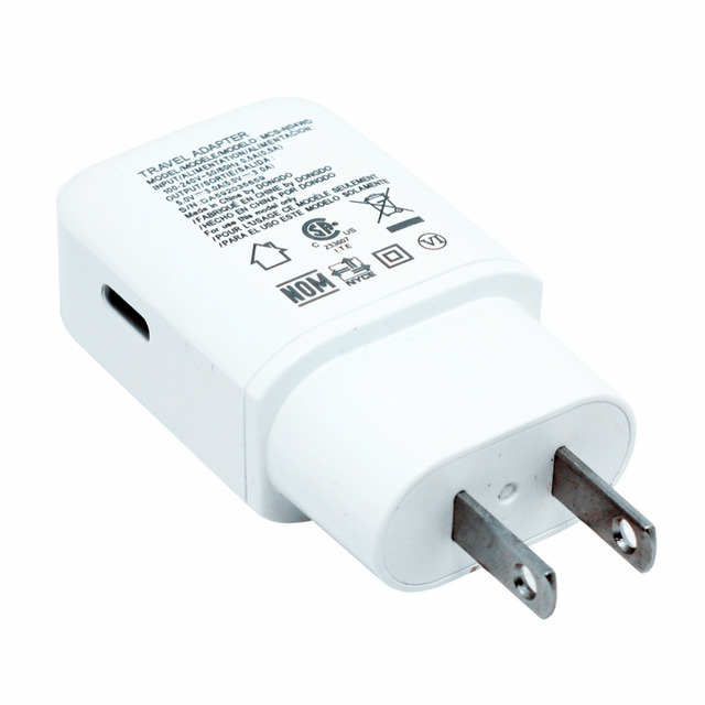Original white 5V 3A TYPE C USB 3.1 Fast wall charger +1M Type c data cable for lg G5 GOOGLE Nexus 5X 6P