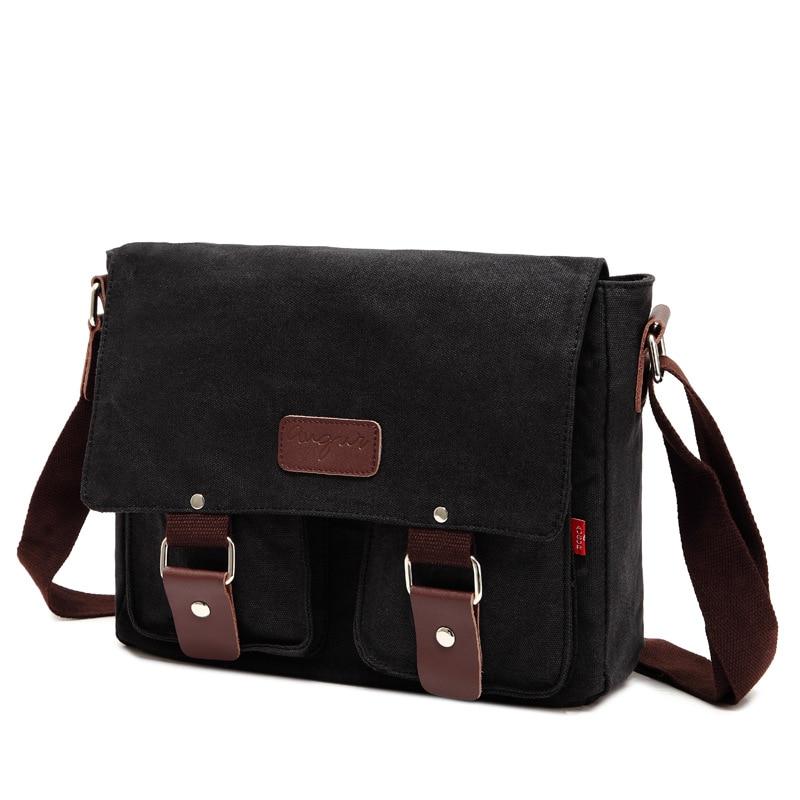 OZUKO Men Bag Vintage Men Canvas Messenger Bags Large Capacity Travel Crossbody Bags Fashion Luxury Designer