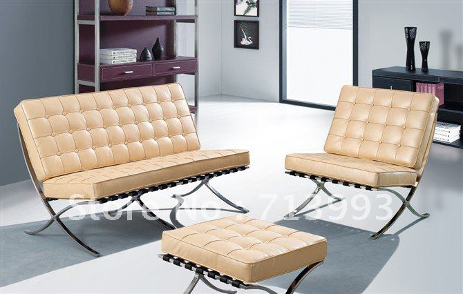Barcelona Sofa/living Room Furniture/leisure Leather Barcelona Chair ...