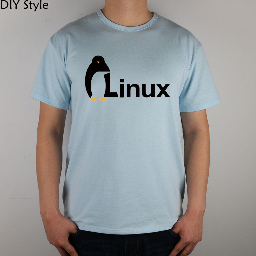 wordart of LINUX T-shirt cotton Lycra top