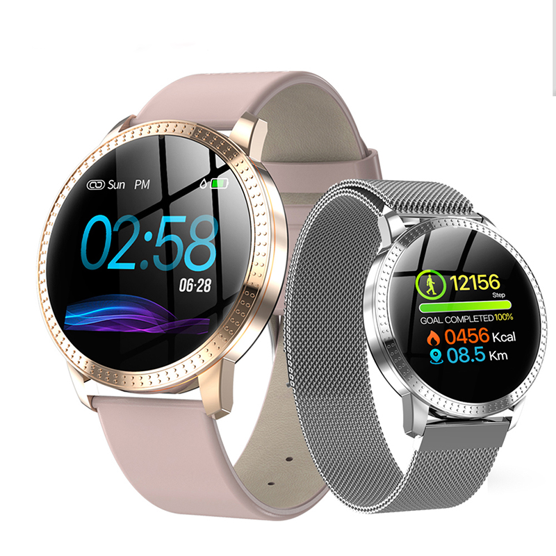 Smart Watch CF18 For Women Sport Heart Rate Blood Pressure Monitor Waterproof Tempered glass Activity Fitness tracker SmartwatchSmart Watch CF18 For Women Sport Heart Rate Blood Pressure Monitor Waterproof Tempered glass Activity Fitness tracker Smartwatch