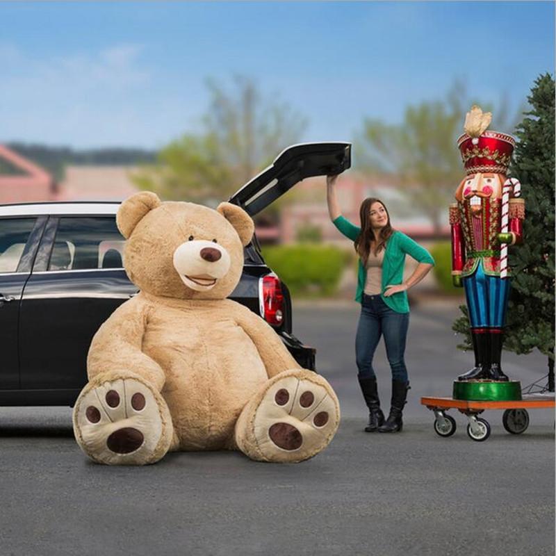 Hot-Sale-200cm-79-inch-Big-Size-USA-Teddy-Bear-Large-Bearskin-Giant-Bear-Semi-finished