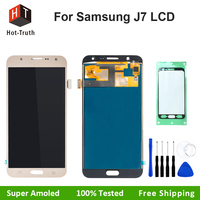 Hot Truth Super AMOLED LCD Assembly For Samsung Galaxy J7 J700F J700M 2015 J700H Touch Screen