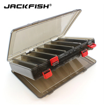 JACKFISH PP Fishing lure box Multifunctional Box Hooks Spoons Storage Boxes 14 Compartments Lure Tackle