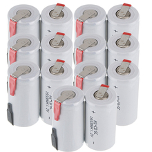 True capacity! 14 pcs SC battery subc battery rechargeable nicd battery replacement 1.2 v accumulator 1800 mah power bank