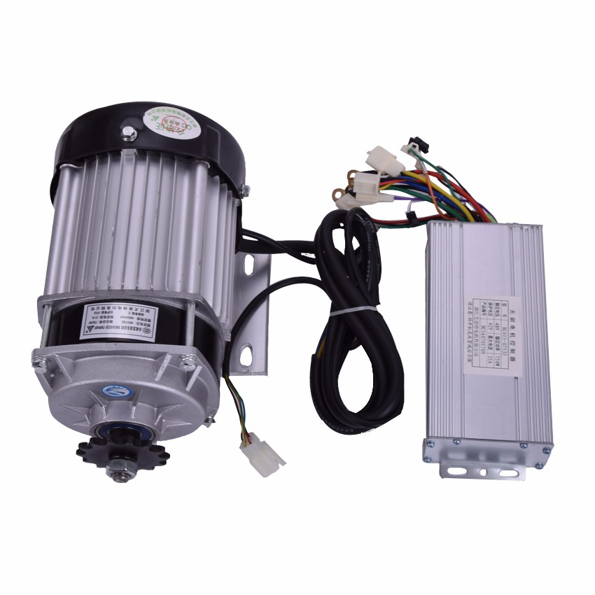 DC 48V 60V 750W BM1418ZXF Brushless Speed Reduction Motor electric bicycle kit Electric  ...