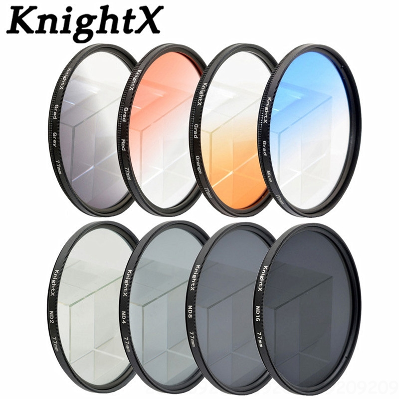 KnightX 52MM 58mm 67mm ND Set filtru ND2 ND4 ND8 Densitate neutră pentru Nikon 5D 6D 7D 100D D7200 D5200 D3200 D3100 D70 D80 d700 t6