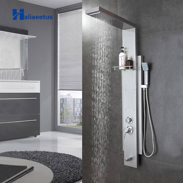 Haliaeetus Wall Mounted Bath & Shower Faucet with Shelf ABS ...