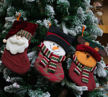 Santa Claus, Christmas socks Christmas decoration hosiery products Christmas gifts socks Santa pendant