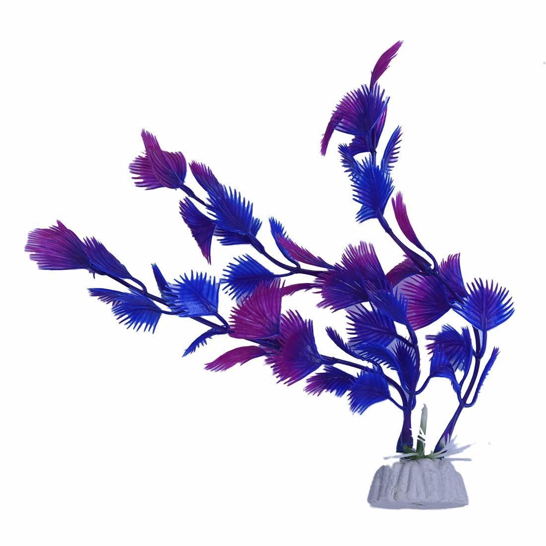 Новое искусственное растение голубое фиолетовое пластиковое украшение для аквариума
