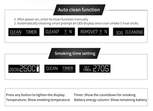 Image 3 - Pluscig P2 LED Display TC Ecig 1300mAh Electronic Cigarettes Vape Kits compatibility with Brand Heating Tobacco stick