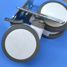 Бесплатная доставка мебель мнлз Медицинские 4-дюймовый Полный пластиковый плоский универсальный ТПУ мнлз поворотный Медицинское Оборудование колесный тормозной