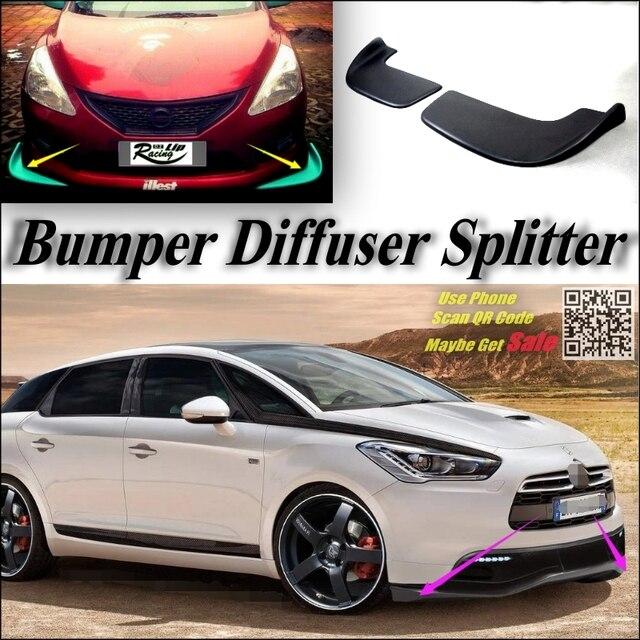 Car Splitter Diffuser Bumper Canard Lip For Citroen Ds5